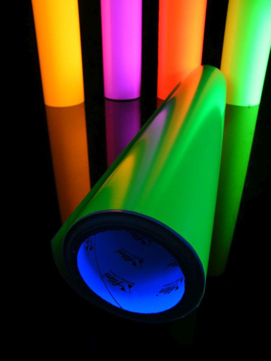 10m-rolle schwarzlicht folie selbstklebend neon grün, 61cm