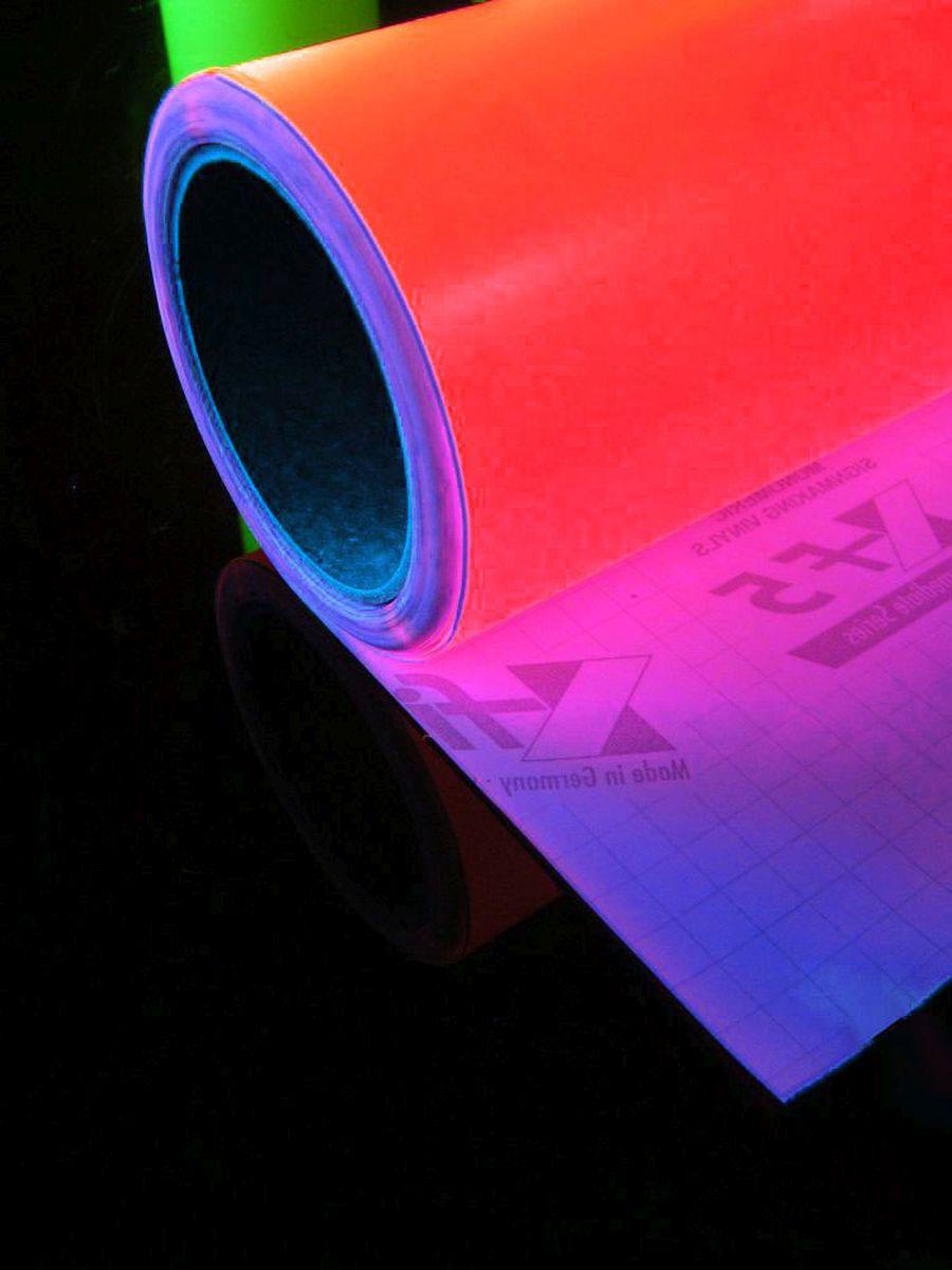 1lfm psywork schwarzlicht folie selbstklebend neon rot, 61cm