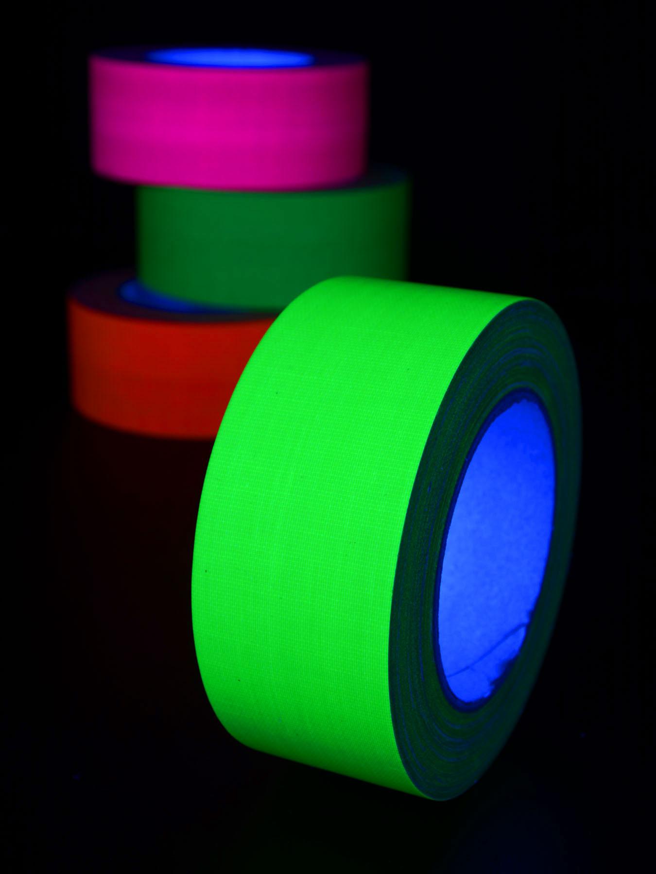 25m rolle schwarzlicht klebeband neon gelb 50mm. Black Bedroom Furniture Sets. Home Design Ideas