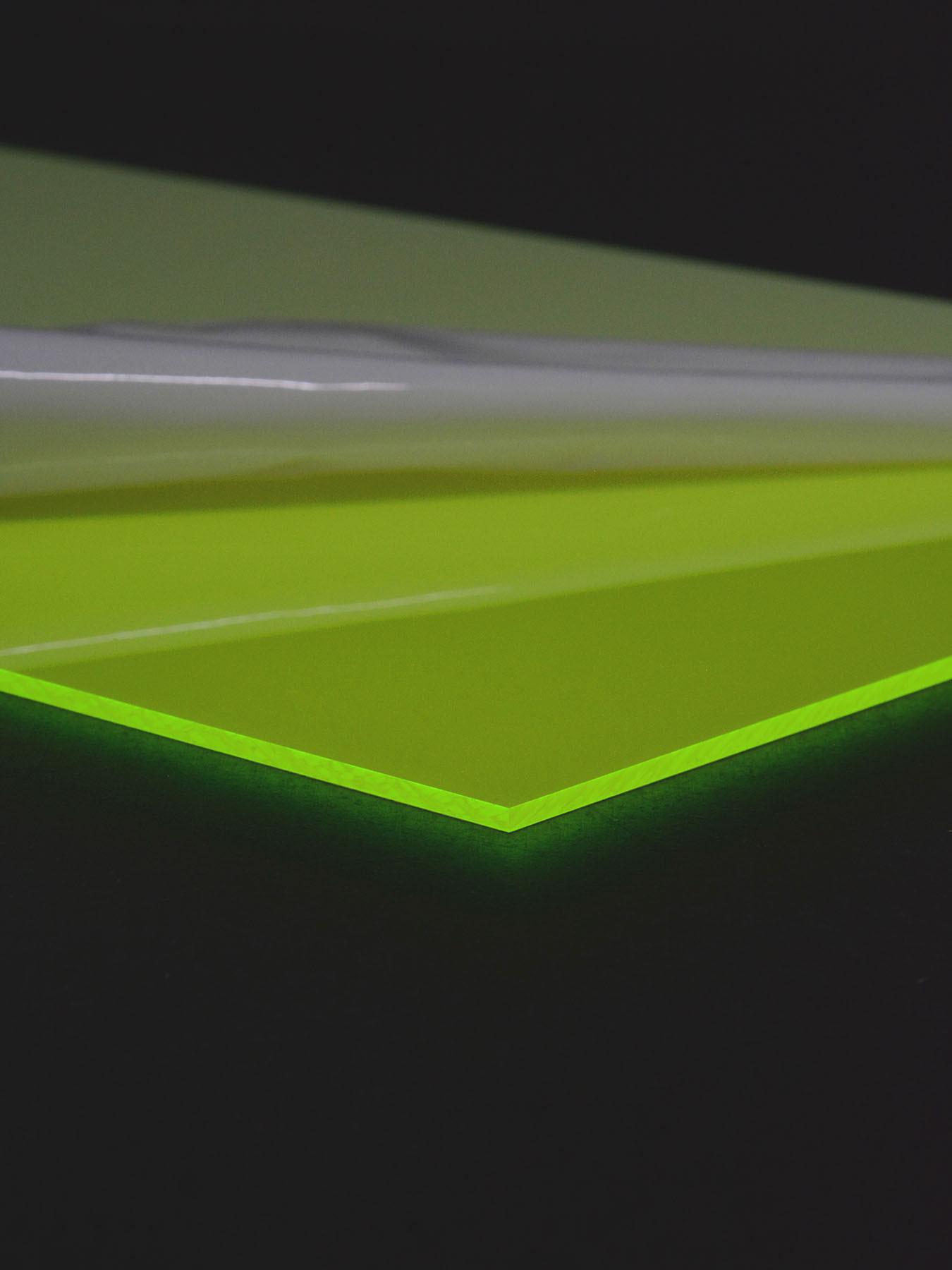 3mm Schwarzlicht Acrylglas Platte Neon fluoreszierend Gr/ün 60x30cm
