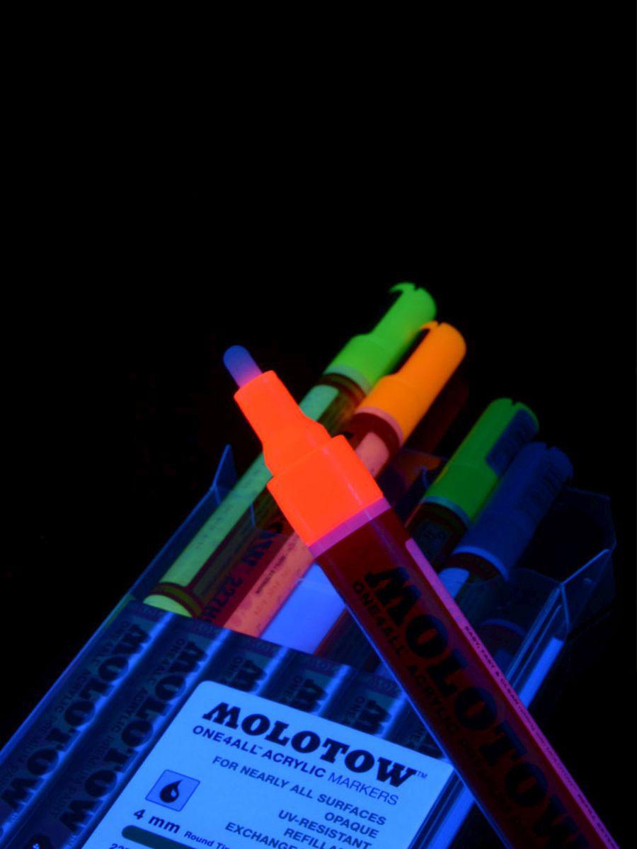 700cc638689c53 6er-Pack MOLOTOW Schwarzlicht Acrylstifte ONE4ALL 227HS Neon ...