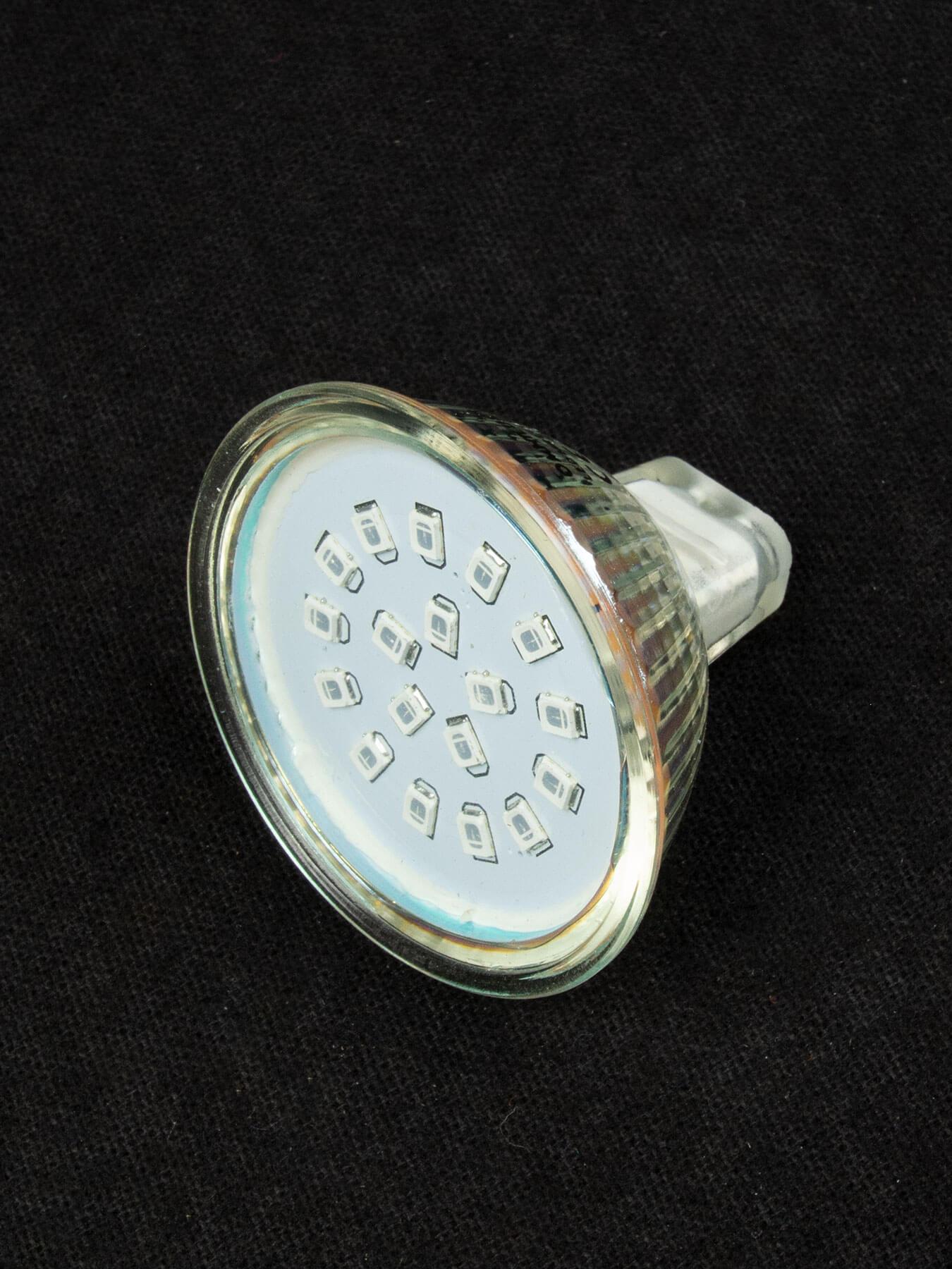 omnilux schwarzlicht smd led lampe mit 18smd leds 12v gx5 3 mr16. Black Bedroom Furniture Sets. Home Design Ideas