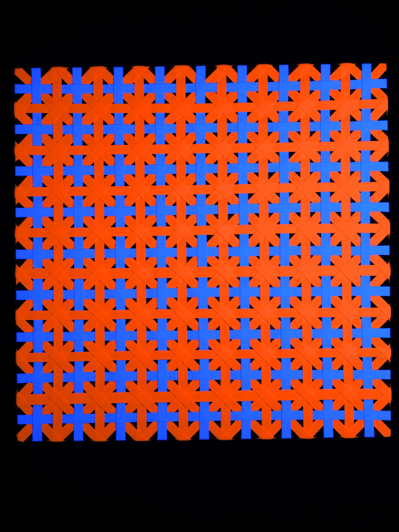 "PSYWORK Pixel Deko ""Orange Patchwork"", 90x90cm"