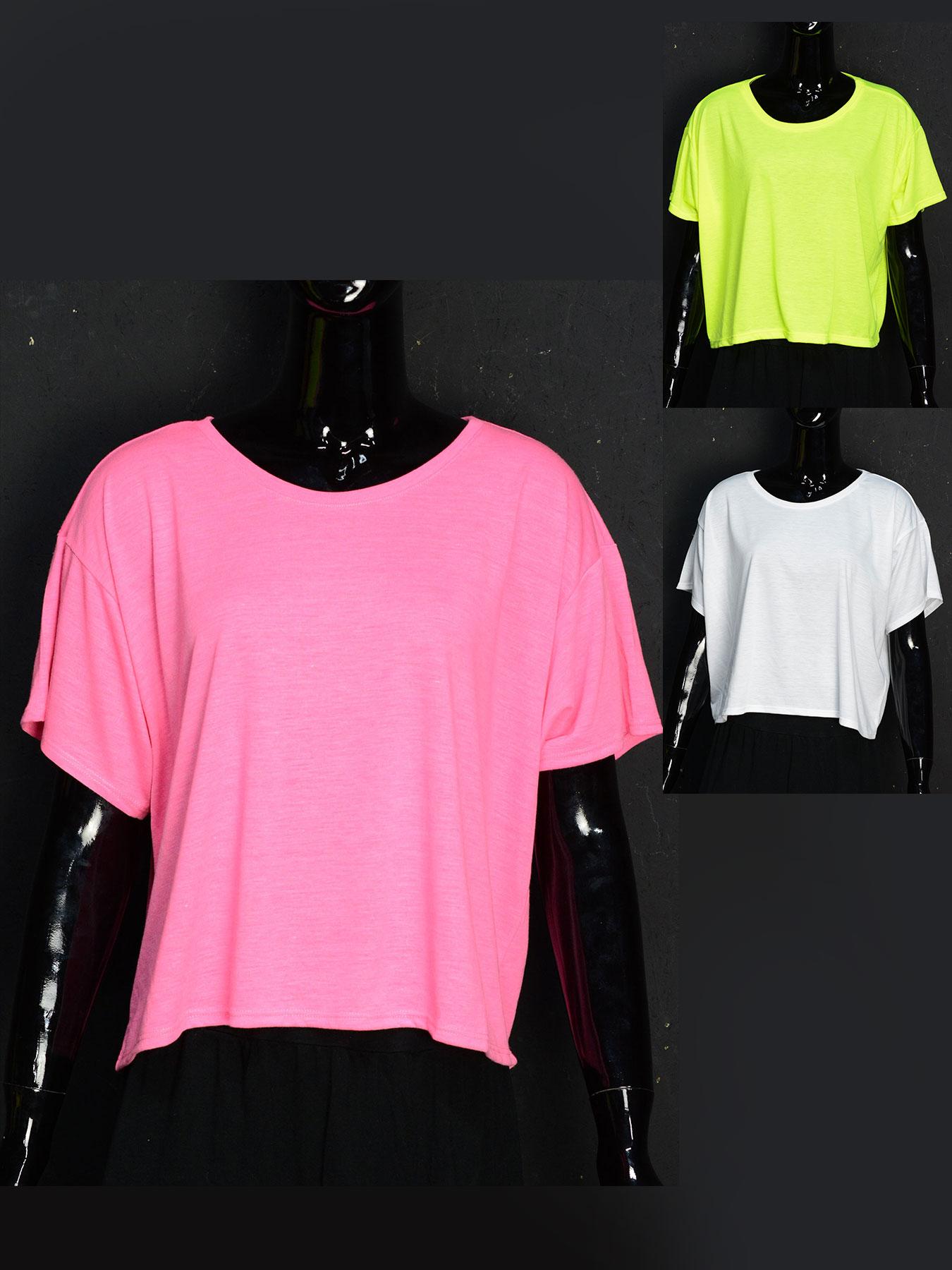 schwarzlicht boxy shirt f r damen neon. Black Bedroom Furniture Sets. Home Design Ideas