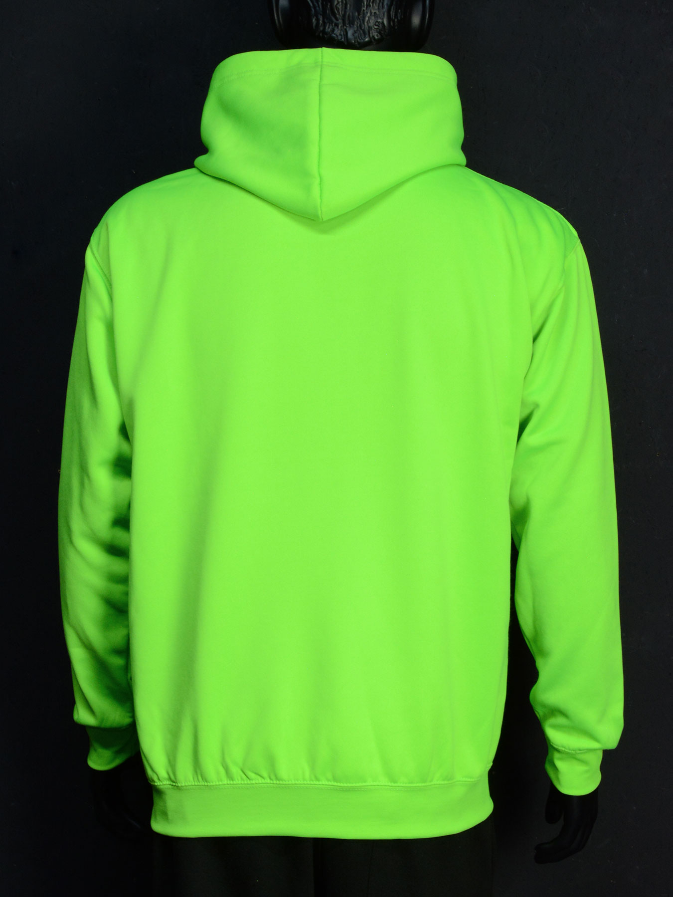 Schwarzlicht Pullover mit Kapuze Hoodie Neon Grün