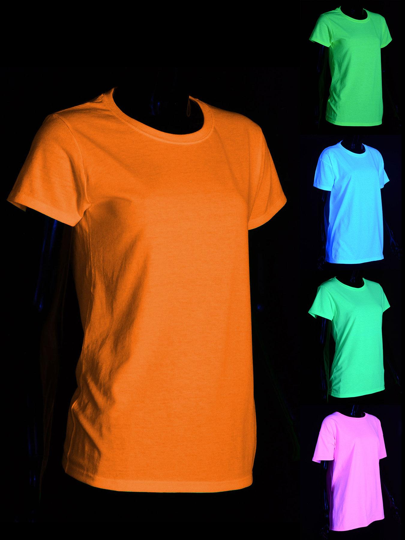 schwarzlicht t shirt f r damen neon. Black Bedroom Furniture Sets. Home Design Ideas