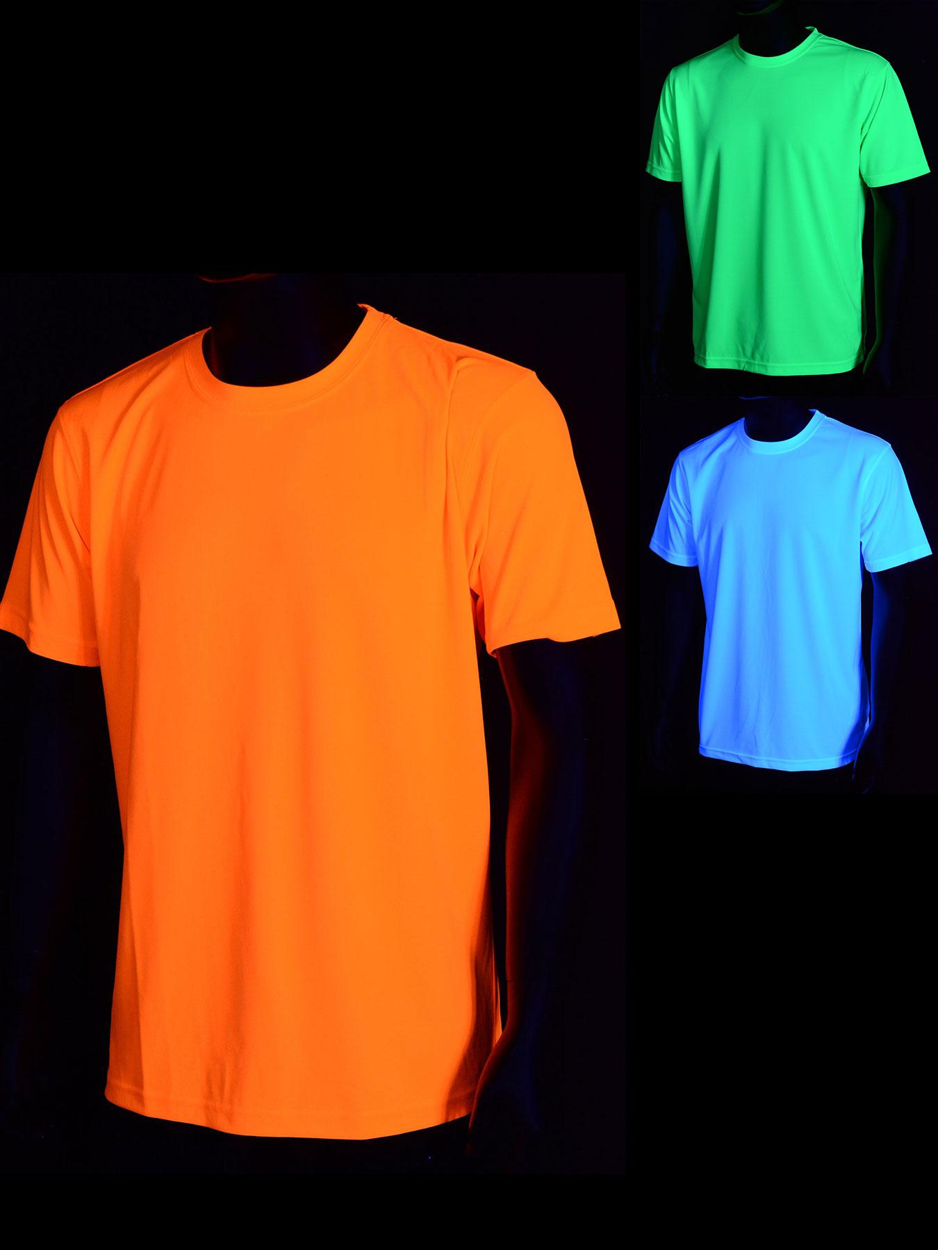 schwarzlicht t shirt f r herren sport neon. Black Bedroom Furniture Sets. Home Design Ideas