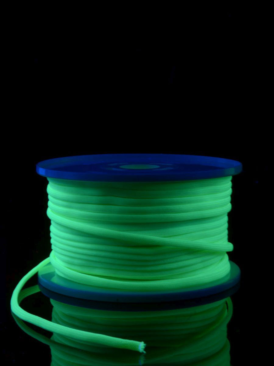 2mm Schwarzlicht Textil Leuchtschnur Faden Schnur Goa UV Neon 5//10//25//100m