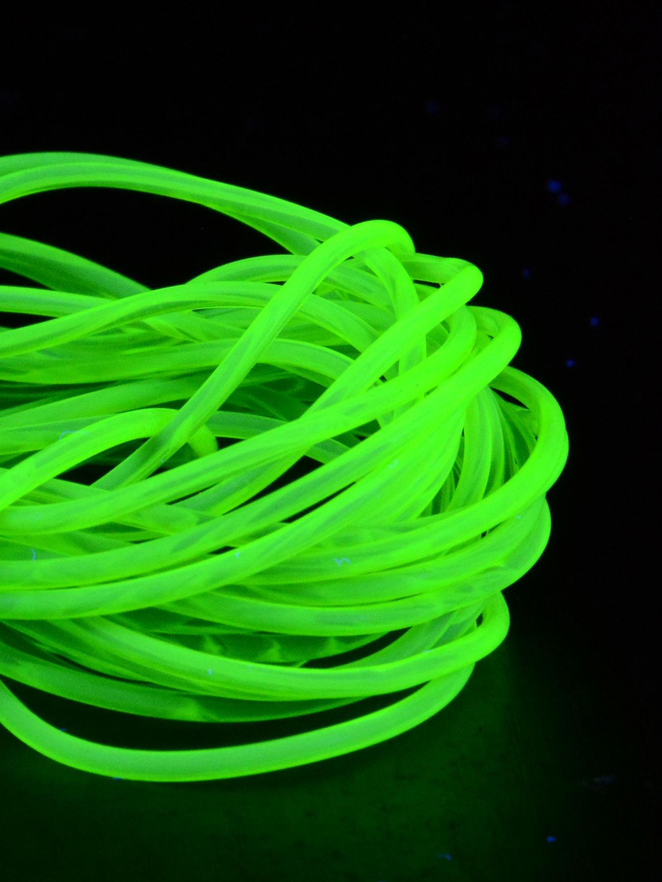 1lfm 2mm Schwarzlicht PVC Leuchtschnur Dunkelgrün | eBay